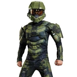 Master Chief Halo Muscle Costume size medium NEW